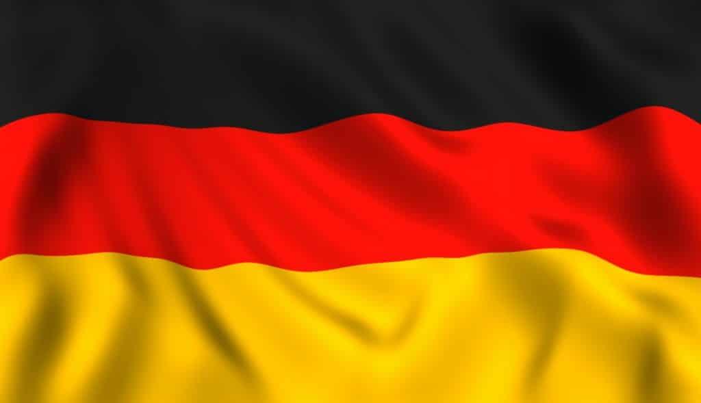 Bandera alemana ondeando símbolo de Alemania